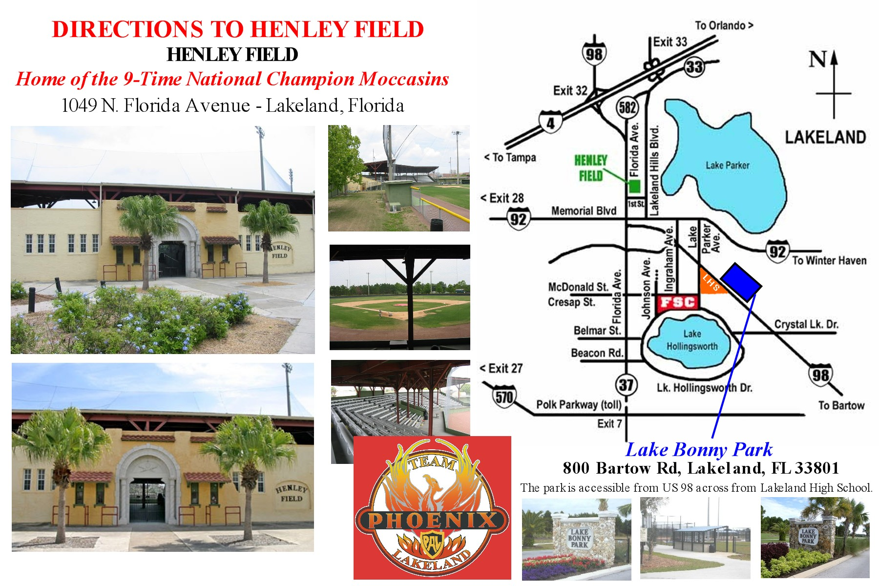 Henley Field and Lake Bonnie